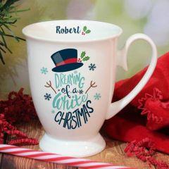 White Christmas Marquee Mug