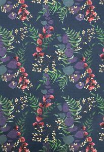 Wild Florals Navy Tea Towel