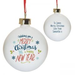 Wishing You A Merry Christmas Bauble