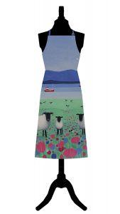Woolitt Wanderers Cotton Apron by Ailsa Black