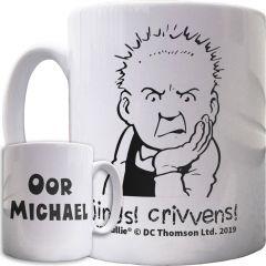 Oor Wullie Jings Crivvens Personalised Mug