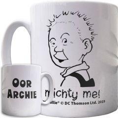 Oor Wullie Michty Me Personalised Mug