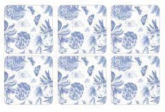 Pimpernel Botanic Blue Coasters Set of 6 Small