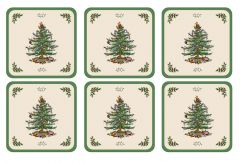 Pimpernel Christmas Tree Coasters - Set of 6