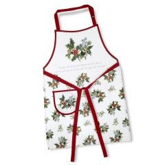 Pimpernel The Holly and The Ivy Cotton Drill Apron