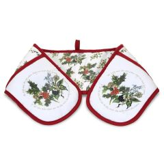 The Holly and The Ivy Double Oven Gloves