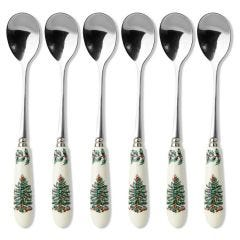 Spode Christmas Tree Tea Spoons - Set of 6