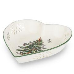 Christmas Tree Pierced Heart Dish