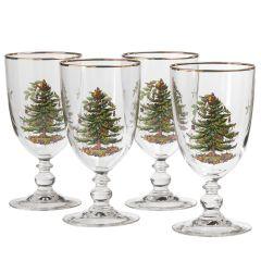 Christmas Tree Highball Glass Set of 4