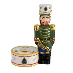 Christmas Tree Nutcracker Candle Green