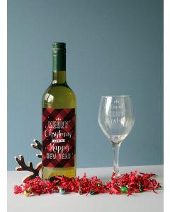 Merry Christmas White Wine Gift Set