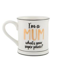 Metallic Monochrome I'm A Mum Mug