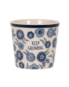 Blue Willow Floral Keep Growing Planter