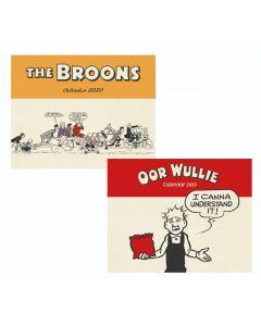 The Broons & Oor Wullie 2020 Calendar Pack