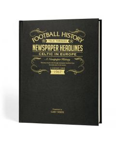 A3 Leather Cover Football Newspaper Book - Celtic in Europe