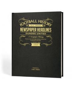 A3 Leather Cover Football Newspaper Book - Dundee United