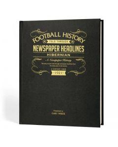 A3 Leather Cover Football Newspaper Book - Hibernian