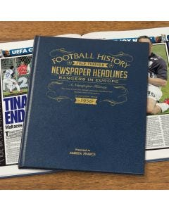 A3 Leather Cover Football Newspaper Book - Rangers in Europe