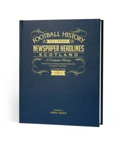 A3 Leather Cover Football Newspaper Book - Scotland