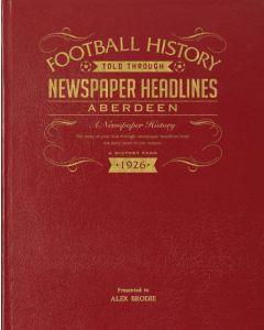 A3 Leather Cover Football Newspaper Book - Aberdeen
