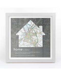 Personalised Framed Dictionary Definition Map – Home