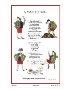 In Times of Stress Cotton Tea Towel