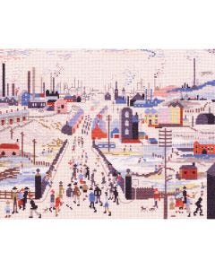 LS Lowry Style: The Canal Bridge