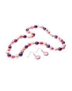 Pink Rosebud Pearl Necklace