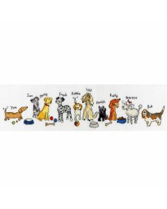 June Armstrong: Row of Dogs Counted Cross StitchKit