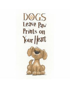 Peter Underhill: Paw Prints Counted Cross Stitch Kit