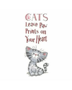 Peter Underhill: Cats' Paw Prints Counted Cross Stitch Kit