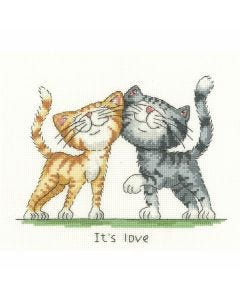 Peter Underhill: It's Love Counted Cross Stitch Kit