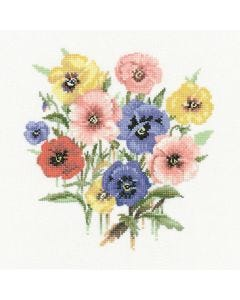 Valerie Pfeiffer: Pansy Posy Counted Cross Stitch Kit