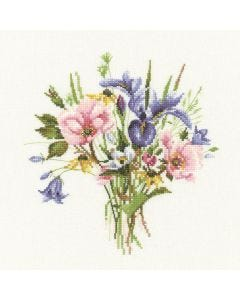 Valerie Pfeiffer: Wild Flower Posy Counted Cross Stitch Kit