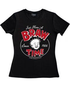 Oor Wullie Braw Time Ladies T-shirt