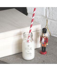 Personalised Santa's Milk Bottle