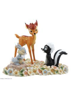 Pretty Flower Bambi, Thumper and Flower Figurine