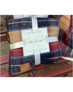 Red Tweed Lap Blanket