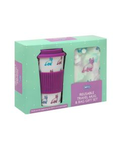 RSPCA Dogs Travel Mug & Shopper Bag Gift Set