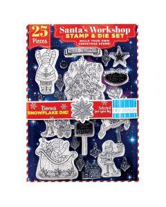 Santa's Workshop Stamp & Trimcraft Die Set