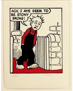Oor Wullie is Stony Broke Print