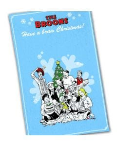 The Broons Christmas Tea Towel