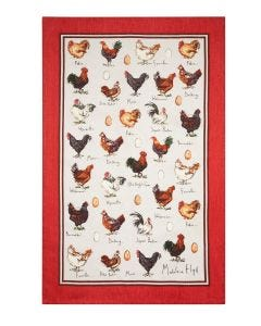 Ulster Weavers Madeleine Floyd Chicken & Egg Linen Tea Towel