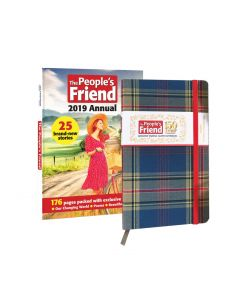 The People's Friend Tartan Notebook & 2019 Annual