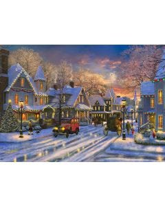 Small Town Christmas 1000-Piece Jigsaw puzzle
