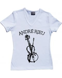 André Rieu Violin Ladies V-Neck T-shirt