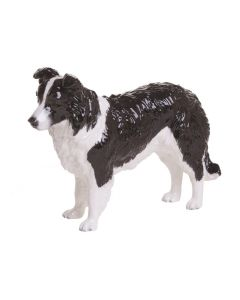 Black & White Border Collie Figurine
