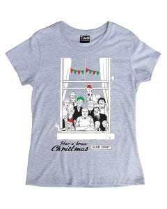 The Broons Christmas Window Ladies T-shirt