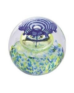 Caithness Thistle Shades Blue Paperweight