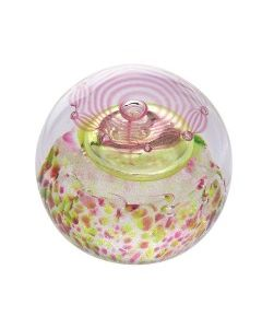 Caithness Thistle Shades Pink Paperweight
